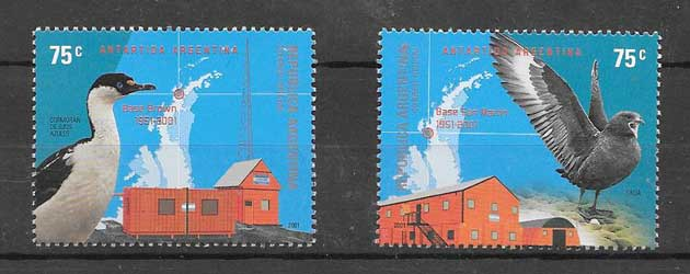 Stamps facilities Argentina in Antarctica