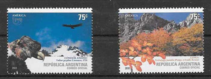 Stamp collection UPAEP America Argentina 2002