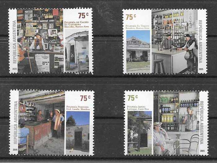 Grocery stores philately Argentina 2005