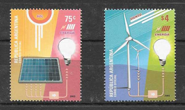 Argentina philately 2005 alternative energy