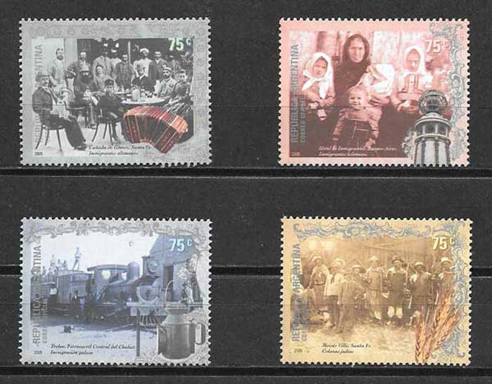 Argentina philately 2005 immigrants and settlers