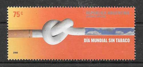 Stamps Argentina 2006 fight against smoking