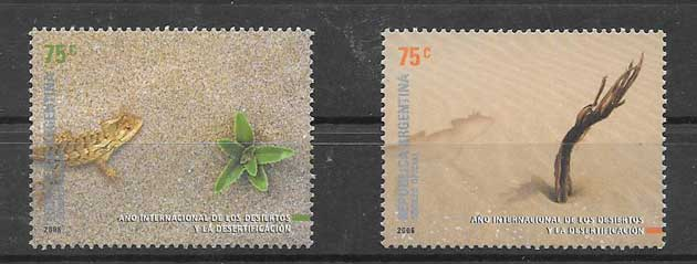 Stamps Argentina 2006 International Year Against Desertification