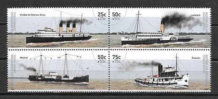 Argentina river transport stamps collection 2006