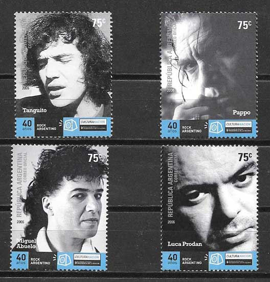 Stamps Argentina 2006 Music - Rock
