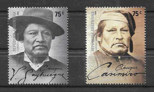 Stamps Argentina 2006 personalities - chieftains