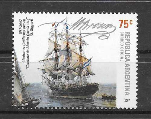 Philately Argentina Fragata Hercules 2007