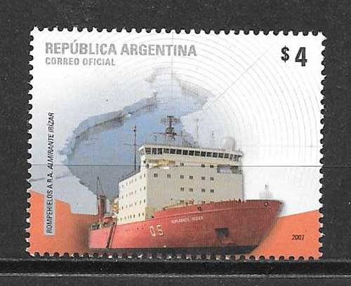 Stamps philately Antarctica - icebreaker
