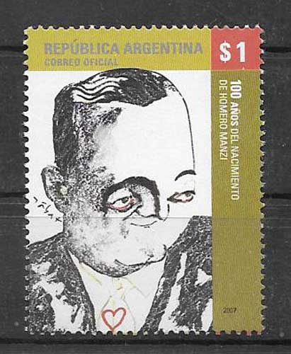 Stamps Argentina 2007 personality
