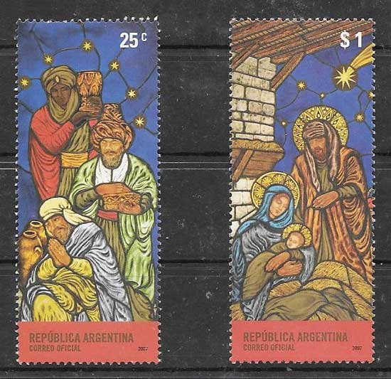 Argentina 2007 Christmas Stamps