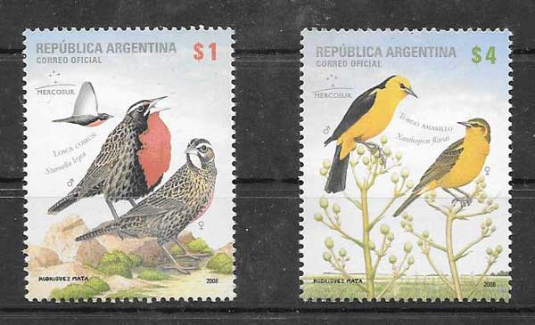 Argentina stamps 2008 wildlife