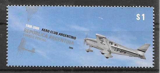 Argentina stamps 2008 aviation