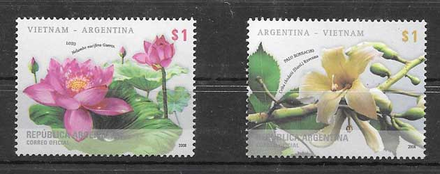Argentina philately 2008 flowers
