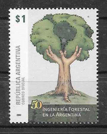 Argentina 2008 forestry philately