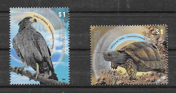 Stamps philately Argentina 2008 wildlife