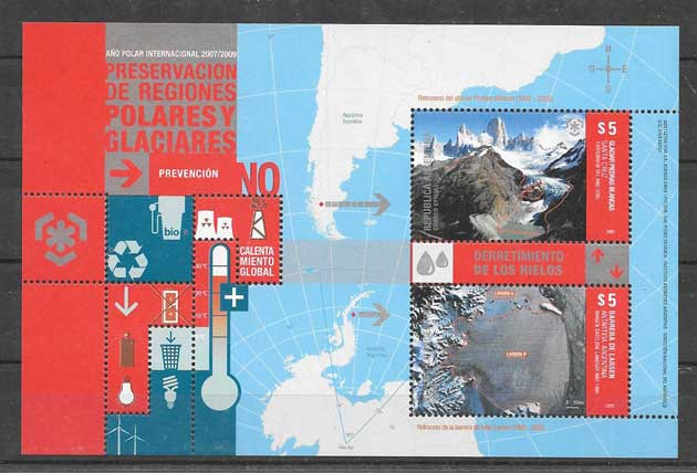 Argentina 2009 glaciers philately protection areas