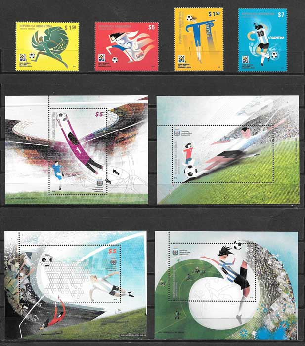 Stamps collection World Football Argentina 2010