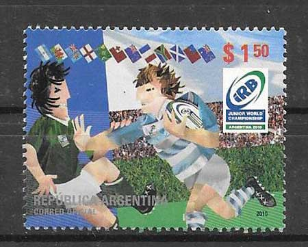 Stamps collection Rugby Argentina 2010