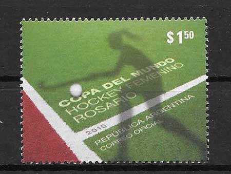 Hockey sport philately Argentina 2010
