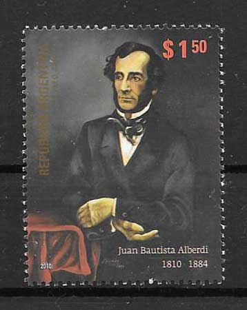 Stamps personality philately Argentina 2010