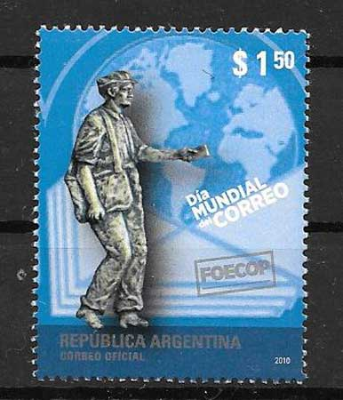 Mail Stamps Argentina World Day 2010