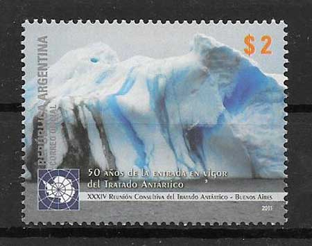 Stamps philately Argentina Antarctic Treaty 2010