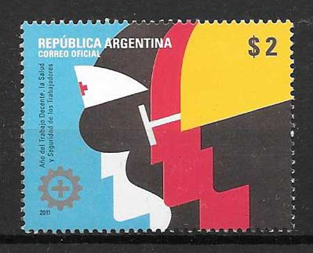 Stamp collection work year
