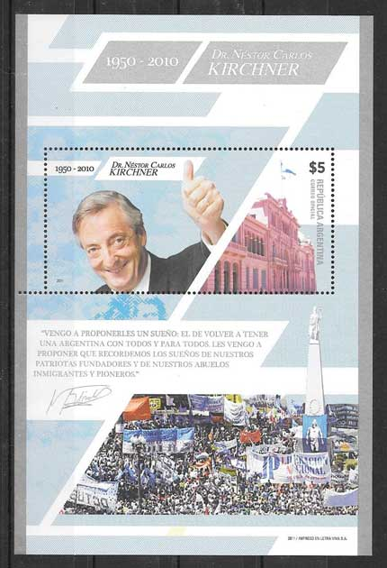 Stamps personality Nestor Kirchner