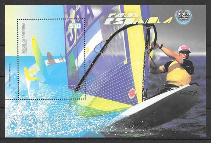 Philately sport windsurfing