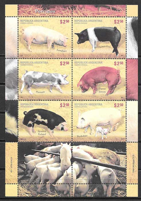 Stamp Collection breds Argentina 2011