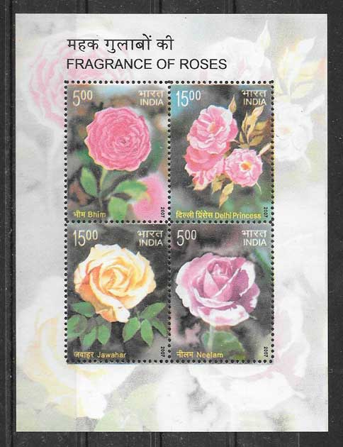 Flower Stamps India 2007