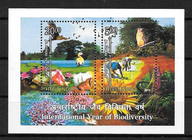 Philately India International Biodiversity Year 2010