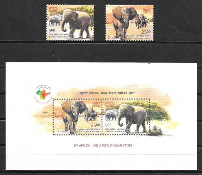 Stamp Collection II Summit Africa - India 2011