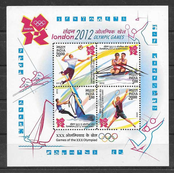 India 2012 Olympic Games Stamps