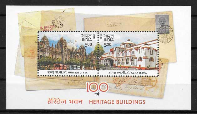 Philately historic buildings India 2013