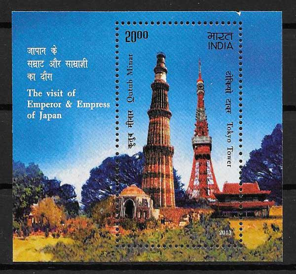 Japanese Emperor Philatelic Stamps Visit India 2013