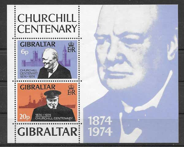 1974 Gibraltar Philatelic personality Churchill