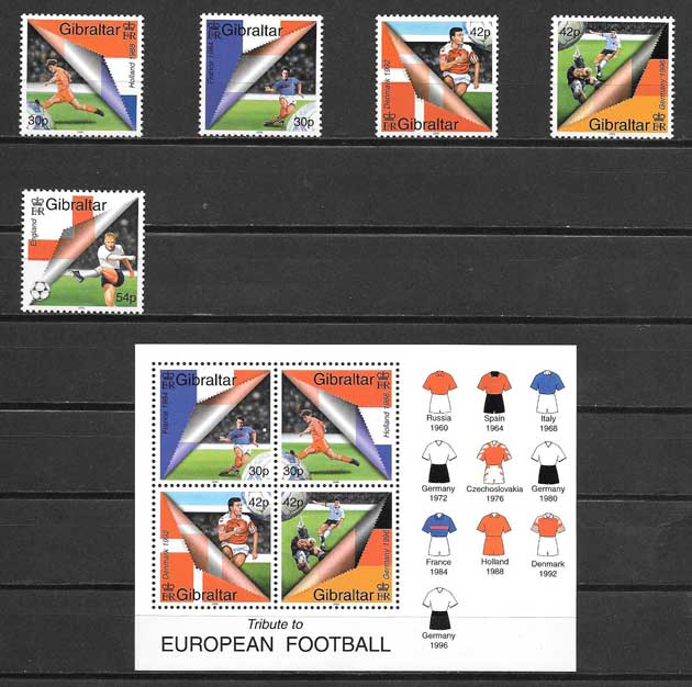 Stamps Gibraltar Football 2000