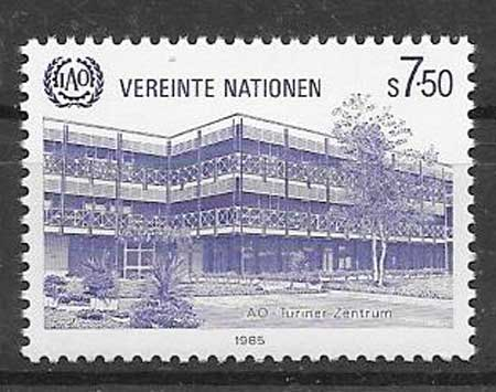United Nations stamps center Turin 1985