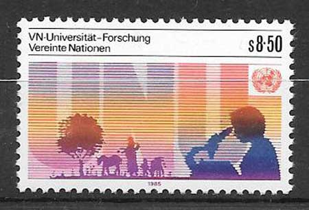 Stamps collection 1985 United Nations University