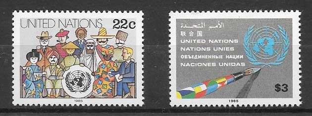 Stamp collection Current series United Nations