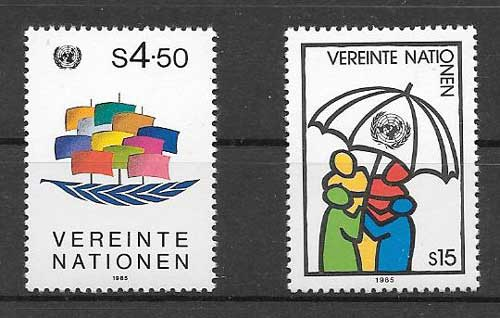 United Nations stamps Allegories 1985