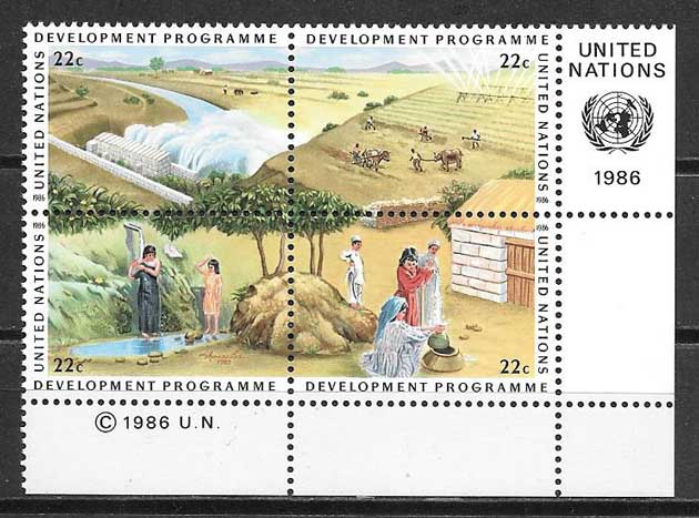 United Nations stamps collection program 1985