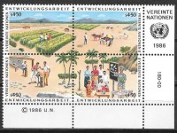 Stamps 1986 United Nations Development Programs