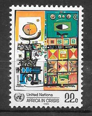 Stamps United Nations Africa in Crisis 1986
