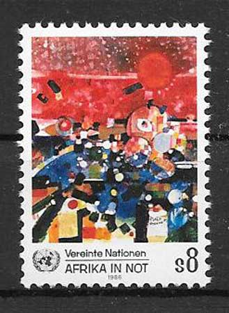 Stamps Africa 1985 UN crisis