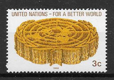 United Nations emblem stamps philately philately 1988