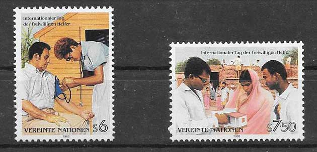 Stamps collection 1988 United Nations Volunteers