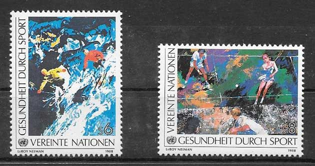 United Nations Stamps 1988 Health sport