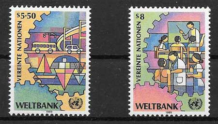 Stamps 1988 United Nations World Bank